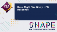 Rural Right Size Study and FGI Response