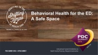 Behavioral Health for the ED: A Safe Space