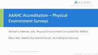 AAAHC/Medicare Deemed Status Accreditation and Physical Environment Surveys
