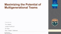 Maximizing the Potential of Multigenerational Teams
