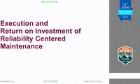 Execution and Return on Investment of Reliability Centered Maintenance