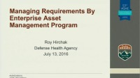 Managing Requirements By Enterprise Asset Management Program