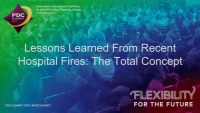 Lessons Learned from Recent Hospital Fires: The Total Concept