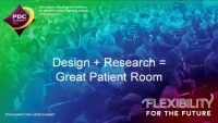 Design + Research = Great Patient Room