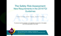 The Safety Risk Assessment: New Requirements in the 2014 FGI Guidelines