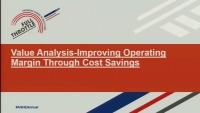 Value Analysis—Improving Operating Margin Through Cost Savings
