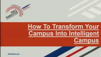 How to Transform Your Campus to an Intelligent Health Care Campus