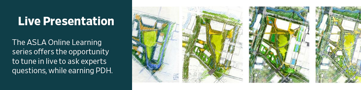 Rebroadcast: Drawing Matters: Exploring the Value of Drawing in Landscape Architecture - 1.5 PDH (LA CES/non-HSW)