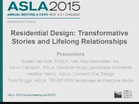 Residential Design: Transformative Stories and Lifelong Friendships - 1.5 PDH (LA CES/HSW)