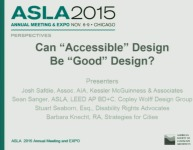 Accessible Design as Good Design: A Conversation from the Field - 1.5 PDH (LA CES/HSW)