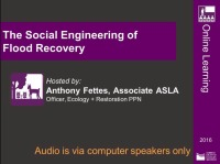 The Social Engineering of Flood Recovery - 1.0 PDH (LA CES/HSW)