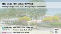 The Case for Great Spaces: Staying Design Savvy with Limiting Project Parameters - 1.5 PDH (LA CES/HSW)