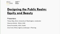 Designing the Public Realm: Equity and Beauty - 1.5 PDH (LA CES/HSW)