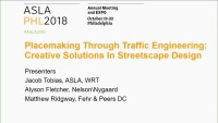 Placemaking Through Traffic Engineering: Creative Solutions in Streetscape Design - 1.5 PDH (LA CES/HSW)