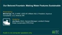 Our Beloved Fountain: Making Water Features Sustainable - 1.0 PDH (LA CES/HSW)