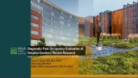 Diagnostic Post-Occupancy Evaluation of Hospital Gardens: Recent Research - 1.0 PDH (LA CES/HSW)