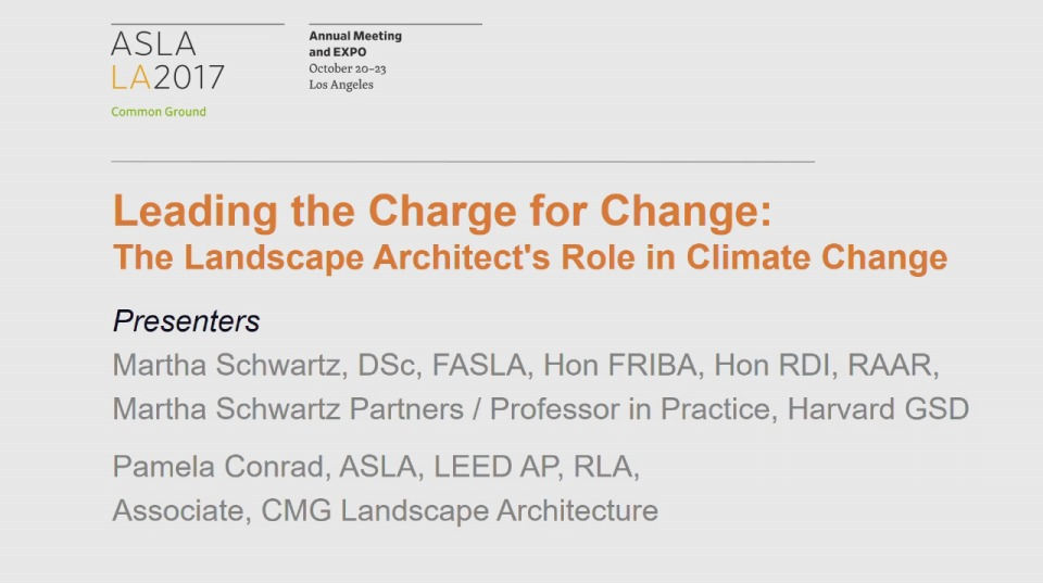 Leading the Charge for Change: The Landscape Architect's Role in Climate Change - 1.5 PDH (LA CES/HSW)