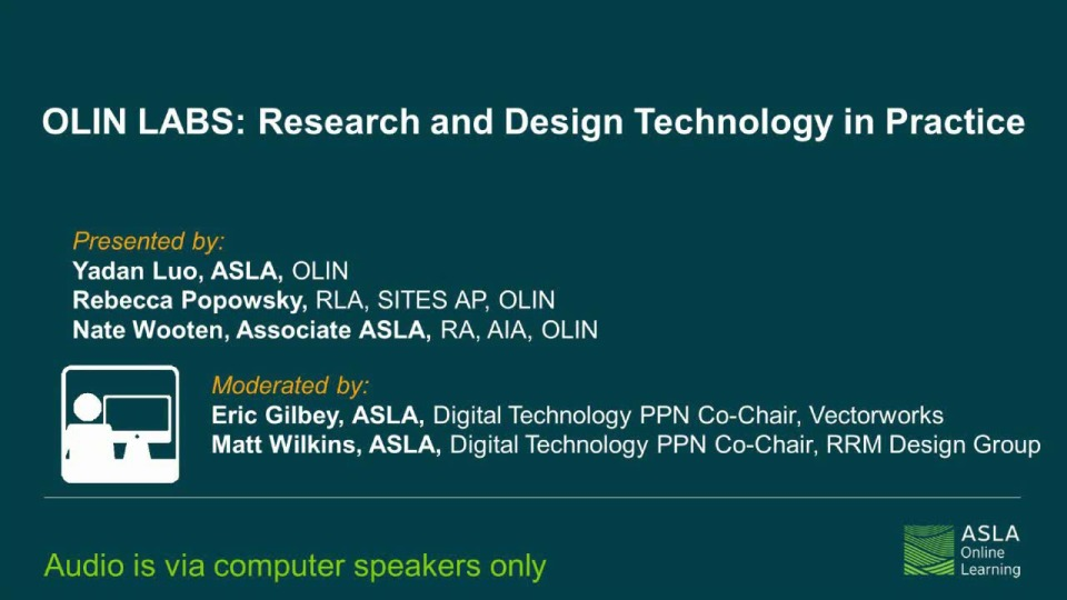 OLIN LABS: Research and Design Technology in Practice - 1.0 PDH (LA CES/HSW)