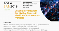 A Design Framework for Livable Streets in the Era of Autonomous Vehicles - 1.5 PDH (LA CES/HSW)