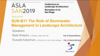 The Role of Stormwater Management in Landscape Architecture - 1.0 PDH (LA CES/HSW) / 1.0 GBCI SITES-Specific CE