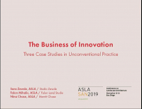 The Business of Innovation: Three Case Studies in Unconventional Practice - 1.5 PDH (LA CES/non-HSW)