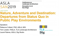 Nature, Adventure and Destination: Departures from Status Quo in Public Play Environments - 1.25 PDH (LA CES/HSW)