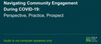 Navigating Community Engagement During COVID-19: Perspective, Practice, Prospect - 1.0 PDH (LA CES/HSW) / 1.0 AICP