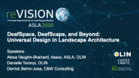 DeafSpace, DeafScape, and Beyond: Universal Design in Landscape Architecture - 1.0 PDH (LA CES/HSW)