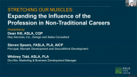 Stretching Our Muscles: Expanding the Influence of the Profession in Non-Traditional Careers - 1.0 PDH (LA CES/non-HSW)
