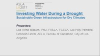 Investing Water during a Drought: Sustainable Green Infrastructure for Dry Climates - 1.5 PDH (LA CES/HSW)