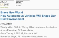 Brave New World - How Autonomous Vehicles Will Shape Our Built Environment - 1.5 PDH (LA CES/HSW)