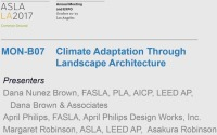 Climate Adaptation Through Landscape Architecture - 1.5 PDH (LA CES/HSW)