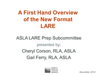 A First-Hand Overview of the LARE