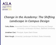 Change in the Academy: The Shifting Landscape in Campus Design - 1.5 PDH (LA CES/HSW)