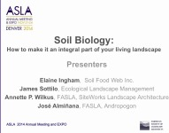 Soil Biology: Make it Integral to Your Living Landscape - 1.5 PDH (LA CES/HSW)