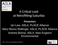 A Critical Look at Retrofitting Suburbia - 1.5 PDH (LA CES/HSW)