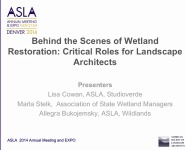 Behind the Scenes of Wetland Restoration: Critical Roles for Landscape Architects - 1.5 PDH (LA CES/HSW)