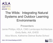 The Wilds: Integrating Natural Systems and Outdoor Learning Environments - 1.5 PDH (LA CES/HSW)