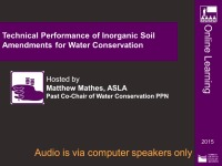 Technical Performance of Inorganic Soil Amendments for Water Conservation - 1.0 PDH (LA CES/HSW)