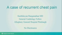 Chest Pain Evaluation (Multimodality): The Elephant on my Chest