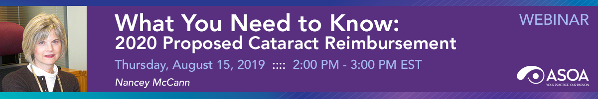 What You Need to Know: 2020 Proposed Cataract Reimbursement