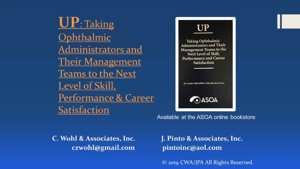 UP: Taking Administrators and Their Management Teams to the Next Level of Skill and Performance