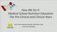 The Future of Nutrition Education: Mulitdisciplinary Approaches and Innovative Techniques