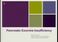 Exocrine Pancreatic Insufficiency in Pediatric and Adult Populations
