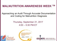 Approaching an 'Audit' with Accurate Documentation and Coding For Malnutrition Diagnosis