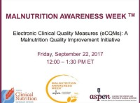 Electronic Clinical Quality Measures (eCQMs): A Malnutrition Quality Improvement Initiative