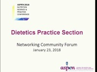Dietetics Practice Section Community Forum - Factors Affecting the Metabolic Rate of the Critically Ill, Mechanically Vented Patient: Implication for Predicting the Rate