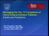 Managing the Top 10 Complaints of Home Enteral Nutrition Patients
