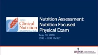 Nutrition Assessment: Nutrition Focused Physical Exam