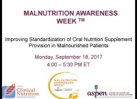 Improving Standardization of Oral Nutrition Supplement Provision in Malnourished Patients